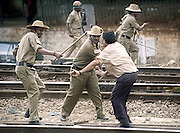 BANGALORE,1999.<br /> Atleast 60 persons, including 25 policemen, were injured when police resorted to lathicharge and fired teargas shells at agitators who were demanding a rail link to Rajasthan via Ajmer, at the city railway station.
