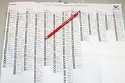 Het stembiljet van de Provinciale Staten in Utrecht.<br /> <br /> Voting for the districts.