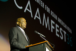 """Former San Francisco Mayor Willie Brown speaks at the CAAM Film Festival's world premiere of """"An American Story: Norman Mineta and His Legacy"""" at the Castro Theatre, Thursday, May 10, 2018 in San Francisco, Calif. (D. Ross Cameron/SF Chronicle)"""