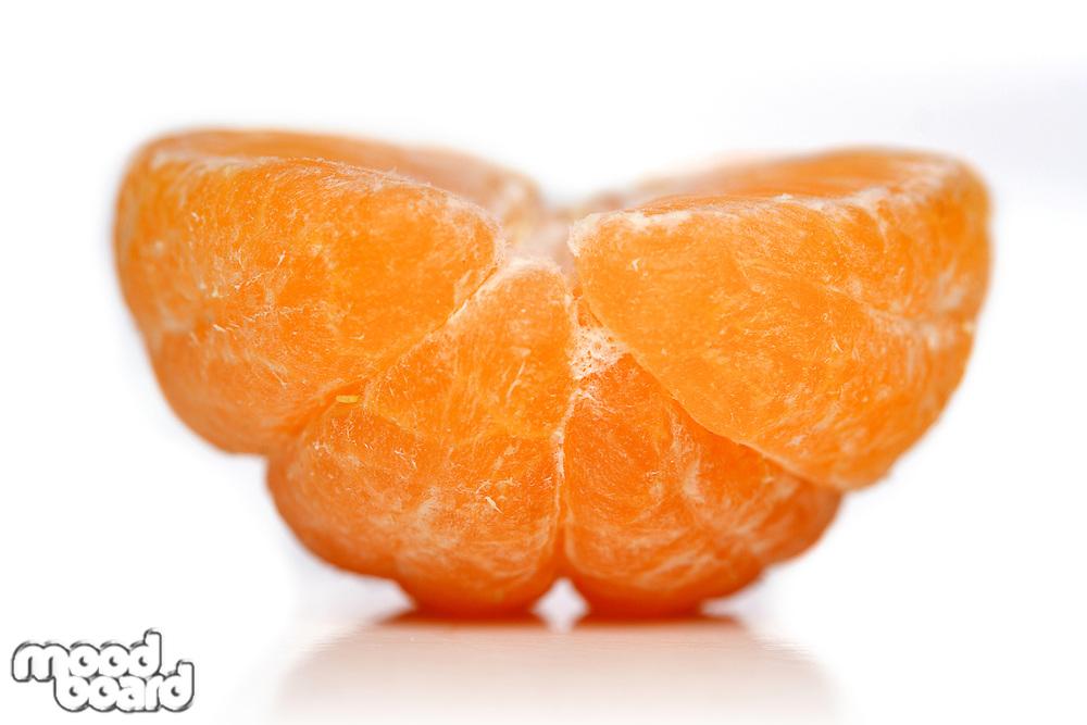 Close-up of mandarin on white background