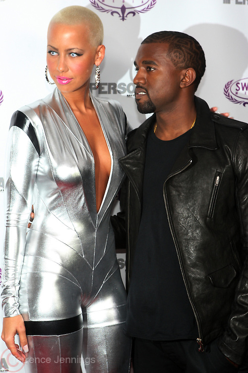 l to r: Amber Rose and Kanye West at The Persona Magazine Launch Party hosted by Russell Simmons held at the Griffen on September 11, 2009