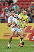 England's Harry Glover makes a break during the HSBC World Rugby Sevens Series - Singapore, Bronze match Australia-V-England at The National Stadium, Singapore on Sunday, April 16, 2017. (Steve Flynn/Image of Sport)
