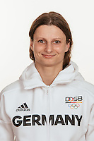 Maren Kräh poses at a photocall during the preparations for the Olympic Games in Rio at the Emmich Cambrai Barracks in Hanover, Germany, taken on 12/07/16 | usage worldwide
