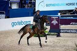 SKRZYCZYNSKI Jaroslaw (POL), Chacclana<br /> Göteborg - Gothenburg Horse Show 2019 <br /> Longines FEI Jumping World Cup™ Final<br /> Training Session<br /> Warm Up Springen / Showjumping<br /> Longines FEI Jumping World Cup™ Final and FEI Dressage World Cup™ Final<br /> 03. April 2019<br /> © www.sportfotos-lafrentz.de/Stefan Lafrentz