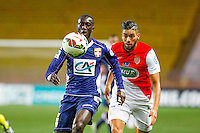 Yannick Ferreira Carrasco / Sabaly Youssouf  - 21.01.2015 - Monaco / Evian Thonon   - Coupe de France 2014/2015<br /> Photo : Sebastien Nogier / Icon Sport