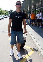 Sandi Cebular of Slovenia Basketball national team at departure to Rogla before World Championship in Turkey, on July 10, 2010 at KZS, Ljubljana, Slovenia. (Photo by Vid Ponikvar / Sportida)