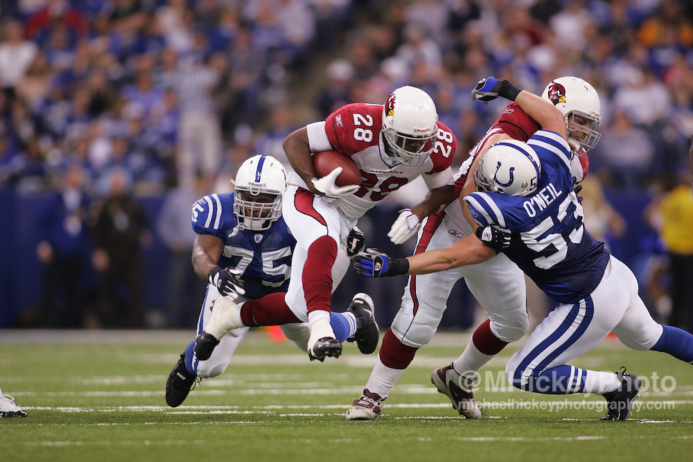 Arizona Cardinals running back JJ Arrington seen during action against the Indianapolis Colts Jan 1, 2006. The Colts defeated the Cardinals 17-13.