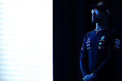 November 7, 2018 - Sao Paulo, Sao Paulo, Brazil - Sao Paulo, Sao Paulo, Brazil - Nov, 2018 - LEWIS HAMILTON a five-time Formula One world champion by the Mercedes-AMG Petronas Motorsports team during a press conference launching the new line of lubricants from his team's sponsor Petronas Lubrificants International.  Sao Paulo, Brazil, November 7, 2018. (Credit Image: © Marcelo Chello/ZUMA Wire)