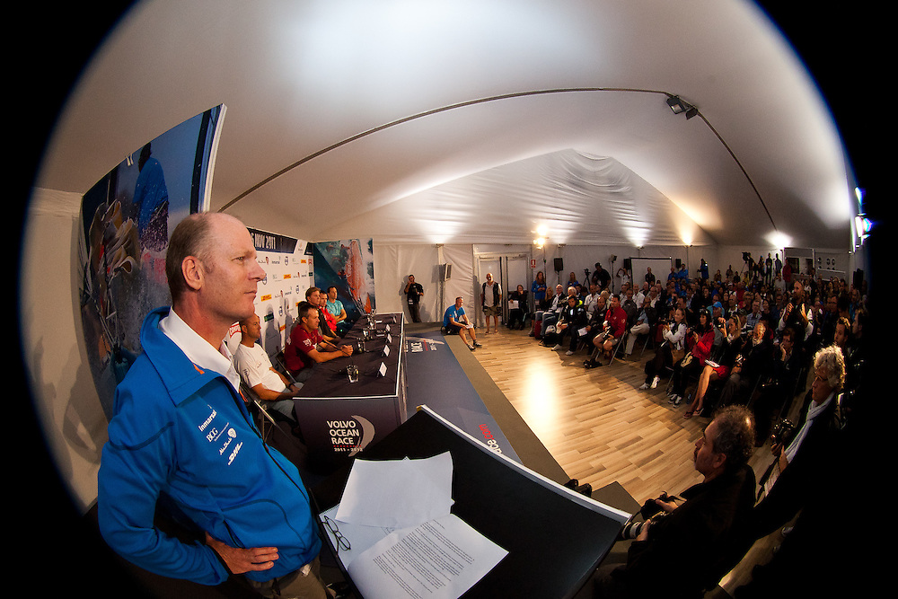 SPAIN, Alicante. 4th November 2011. Volvo Ocean Race. Skippers Press Conference prior to the start of leg 1 from Alicante, Spain to Cape Town, South Africa on November 5th.