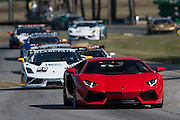 October 3-5, 2013. Lamborghini Super Trofeo - Virginia International Raceway. Field under safety car during race 2.