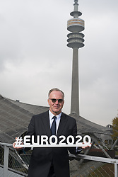 Karl-Heinz Rummenigge bei der UEFA Euro 2020 Logo Pr‰sentation f¸r die Spiele in M¸nchen / 271016<br /> <br /> ***Presentation of the Logo for the Munich games at the UEFA EURO 2020, October 27th, 2016***