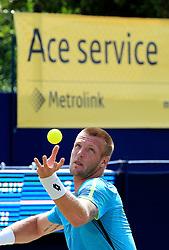 Sam Groth of Australia serves - Mandatory by-line: Matt McNulty/JMP - 31/05/2016 - TENNIS - Northern Tennis Club - Manchester, United Kingdom - AEGON Manchester Trophy