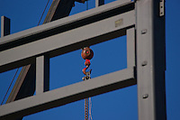 Chain hanging from a crane.
