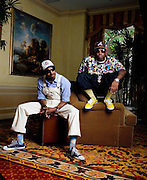 Members of the hip hop group, Outkast, Andre Benjamin (left) and Antwan A. Patton star in the musical Idlewild which is set in a 1930s speakeasy. The movie features new music from the group.