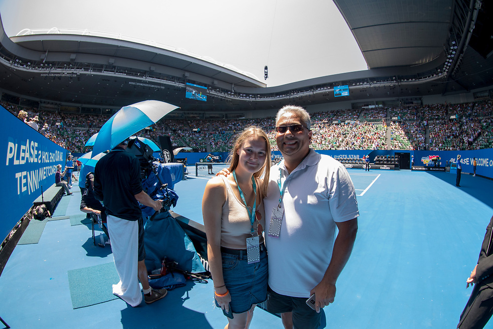 Hospitality on court on day nine of the 2018 Australian Open in Melbourne Australia on Wednesday January 24, 2018.<br /> (Ben Solomon/Tennis Australia)