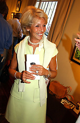 The DUCHESS OF MARLBOROUGH at a an exhibition of prints by art dealer Martin Summers held at 73 Glebe Place, London on 29th June 2004.