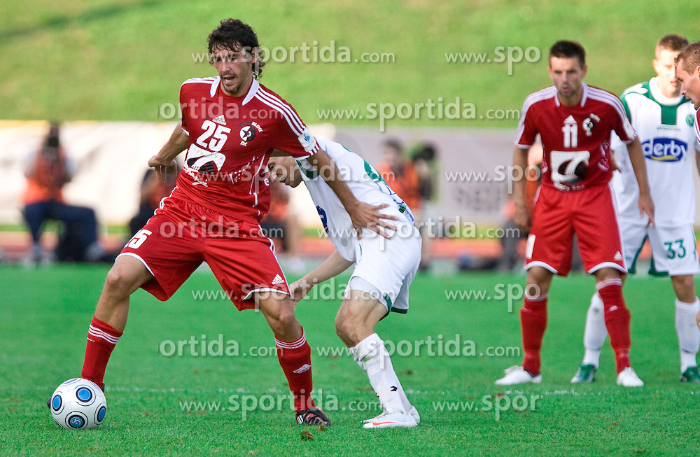 Mario Lucas  Horvat of Interblock  at the football match Interblock vs Olimpija in 10th Round of Prva liga 2009 - 2010,  on September 23, 2009, in ZSD Ljubljana, Ljubljana, Slovenia. Olimpija won 1:0.  (Photo by Vid Ponikvar / Sportida)