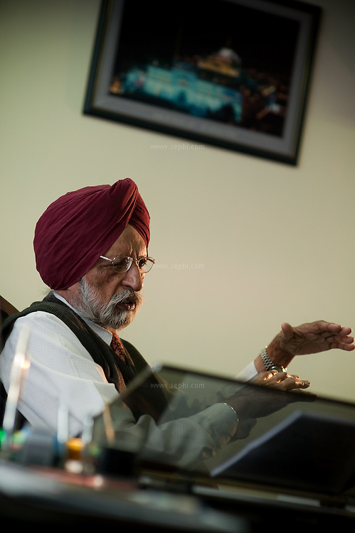 G.S.Kalkat, Chairman of Punjab State Farmers commission, at his office in Mohali, Punjab