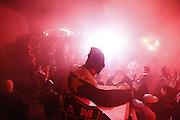 Belo Horizonte_MG, Brasil.<br /> <br /> Jogadores disputam partida valida pelas quartas de final da Copa Libertadores da America entre Atletico Mineiro 1x1 Tijuana do Mexico. O time brasileiro se classificou as semi-finais depois de um empate em 2x2 no primeiro jogo.<br /> <br /> Players vie for starting validates the quarterfinals of the Libertadores of America Cup between Atletico Mineiro 1x1 Tijuana of Mexico. The Brazilian team is ranked the semi-finals after a draw at 2-2 in the first game.<br /> <br /> Foto: MARCUS DESIMONI / NITRO