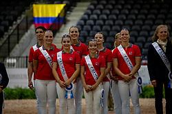 Team Switzerland /Team Schweiz<br /> Tryon - FEI World Equestrian Games™ 2018<br /> Nations Team Vaulting Championship<br /> 19. September 2018<br /> © www.sportfotos-lafrentz.de/Stefan Lafrentz