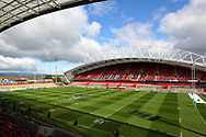 A general view of Thomond Park during the European Rugby Champions Cup match at Thomond Park, Limerick<br /> Picture by Yannis Halas/Focus Images Ltd +353 8725 82019<br /> 01/04/2017