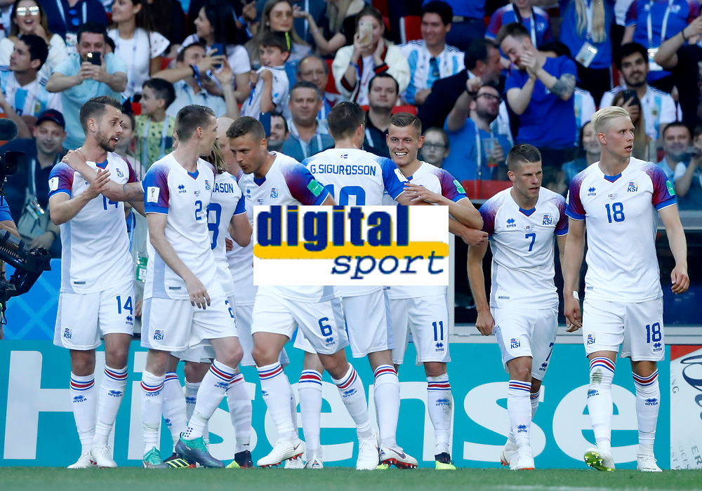 iceland celebration after goal of 1-1 by Alfred Finnbogason (Iceland)<br /> Moscow 16-06-2018 Football FIFA World Cup Russia  2018 <br /> Argentina - Iceland / Argentina - Islanda<br /> Foto Matteo Ciambelli/Insidefoto