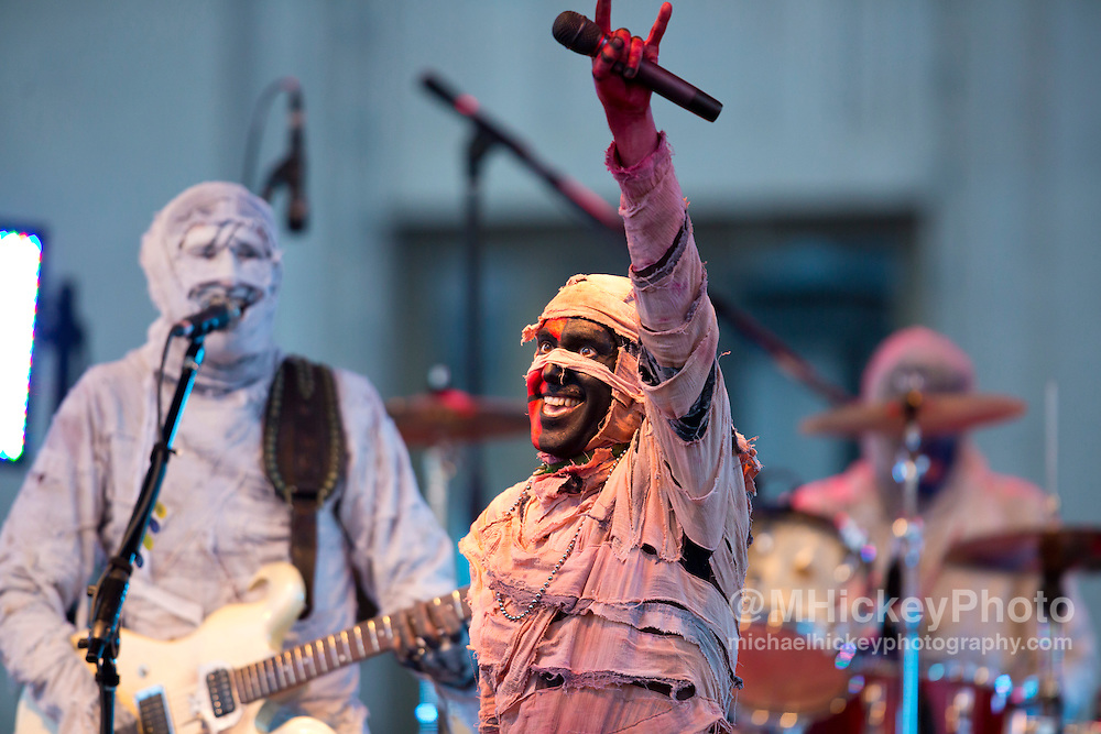Here Come the Mummies performs at the Haynes Apperson Festival in downtown Kokomo on June 28, 2012...Photo by Michael Hickey