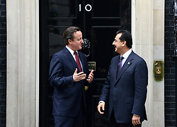 © Licensed to London News Pictures. 10/05/2012. Westminster, UK British Prime Minister David Cameron meets Yousuf Raza Gilani, the Prime Minister of Pakistan on Downing Street today 10th May 2012 . Photo credit : Stephen Simpson/LNP