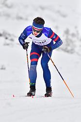 DUBOIS Thomas Guide: SAUVAGE Bastien, FRA, B1 at the 2018 ParaNordic World Cup Vuokatti in Finland