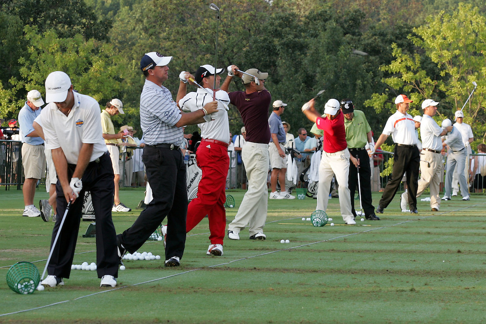 09 August 2007: The driving range prior to the start of the first round of the 89th PGA Championship at Southern Hills Country Club in Tulsa, OK.