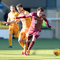 Livingston v St Johnstone….09.03.19   Almondvale.    SPFL<br />Danny Swanson is tackled by Keaghan Jacobs<br />Picture by Graeme Hart. <br />Copyright Perthshire Picture Agency<br />Tel: 01738 623350  Mobile: 07990 594431