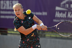 May 16, 2018 - Trnava, Slovakia - ANNA BLINKOVA of Russia in her first round match in the Empire Slovak Open tennis tournament in Trnava Slovakia (Credit Image: © Christopher Levy via ZUMA Wire)