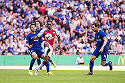 Arsenal forward Danny Welbeck (23) during the FA Community Shield match between Arsenal and Chelsea at Wembley Stadium, London, England on 6 August 2017. Photo by Sebastian Frej.