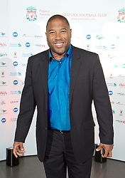 LIVERPOOL, ENGLAND - Tuesday, May 19, 2015: Former Liverpool player John Barnes arrives on the red carpet for the Liverpool FC Players' Awards Dinner 2015 at the Liverpool Arena. (Pic by David Rawcliffe/Propaganda)