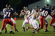 NEW HOPE, PA -  OCTOBER 25: New Hope Solebury's Connor Hayden (2) looks downfield before passing to Jason DeVenuto (not shown) the first half October 25, 2013 in New Hope, Pennsylvania.  (Photo by William Thomas Cain/Cain Images)