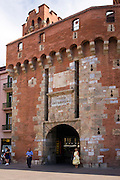 The 14th century Le Castillet, Perpignan, housing the Museum of Catalan Arts et Traditions Populaires (La Casa Pairal). Built in 1368 on the orders of Infant Don Juan Aragon by Guillaume Gitard.