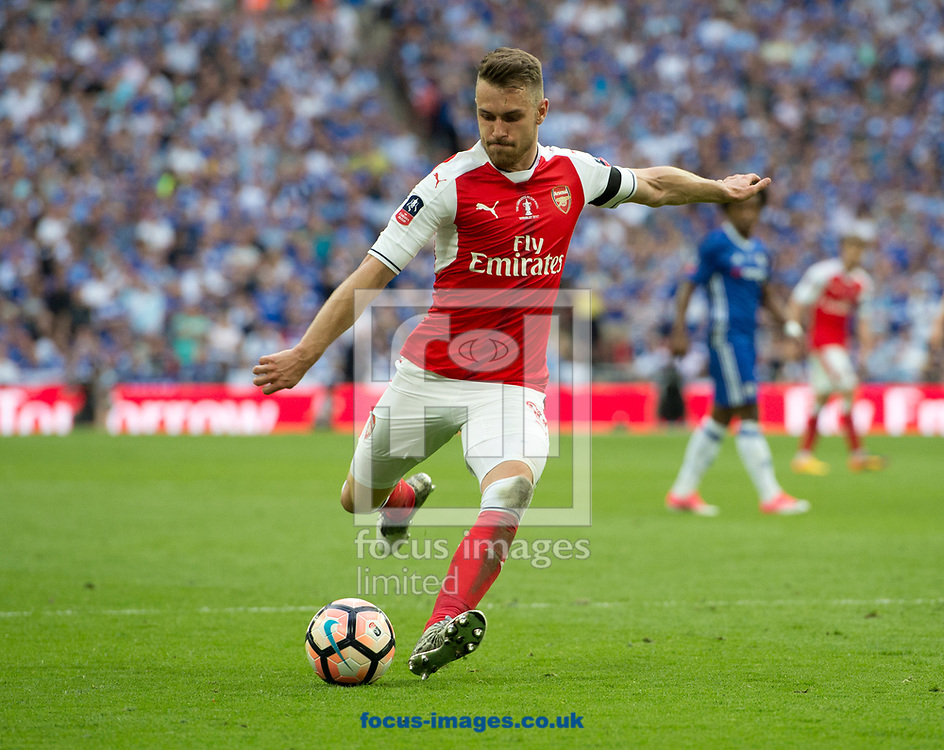 Aaron Ramsey of Arsenal prepares to shoot during the FA Cup Final at the Emirates Stadium, London<br /> Picture by Russell Hart/Focus Images Ltd 07791 688 420<br /> 27/05/2017