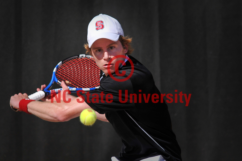 Jaime Pulgar plays Court 1 singles against Boston College.