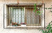 Old style window and windowsill