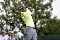 May 5, 2019 - Charlotte, North Carolina, United States of America - Sergio Garcia tees off on the sixteenth hole during the final round of the 2019 Wells Fargo Championship at Quail Hollow Club on May 05, 2019 in Charlotte, North Carolina. (Credit Image: © Spencer Lee/ZUMA Wire)