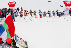 Start of the Mixed 2x6 + 2x7,5km relay of the e.on IBU Biathlon World Cup on Saturday, December 19, 2010 in Pokljuka, Slovenia. The fourth e.on IBU World Cup stage is taking place in Rudno polje - Pokljuka, Slovenia until Sunday December 19, 2010. (Photo By Vid Ponikvar / Sportida.com)