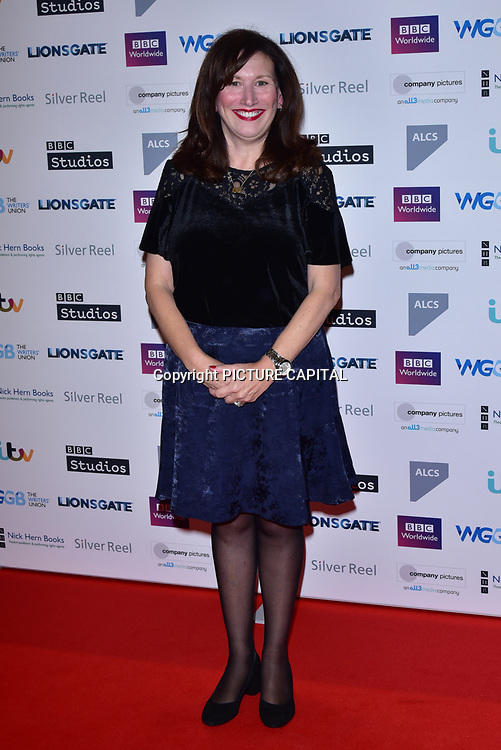 Brenda Gilhooly attends The Writers' Guild Awards at Royal College of Physicians on 15th January 2018.