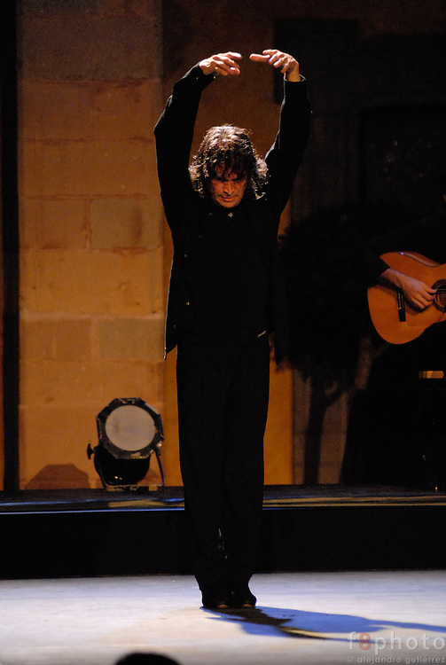 The spanish dancer Cristobal Reyes during a performance in the First Dance Festival Ibérica Contemporánea, Querétaro, México, 2007