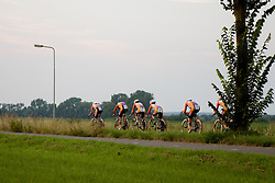 Boels Dolmans approach the final 3 km at the 26.4 km Stage 2 Team Time Trial of the Boels Ladies Tour 2016 on 31st August 2016 in Gennep, Netherlands. (Photo by Sean Robinson/Velofocus).