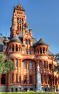Texas is well known for its unique historic courthouses. The Ellis County Courthouse, in Waxahachie, is one of the most ornate.  Completed in 1897, this Richardsonian Romanesque landmark replaced an earlier courthouse that was not fitting for the rapidly expanding county, which grew by 50% between 1880 and 1894.