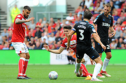 George Friend of Middlesbrough tackles Callum O'Dowda of Bristol City - Mandatory by-line: Nizaam Jones/JMP- 18/08/2018 - FOOTBALL - Ashton Gate Stadium - Bristol, England - Bristol City v Middlesbrough - Sky Bet Championship