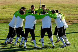 Bostjan Cesar and Milivoje Novakovic and other players of Slovenia during a training session at  Hyde Park High School Stadium on June 16, 2010 in Johannesburg, South Africa.  (Photo by Vid Ponikvar / Sportida)