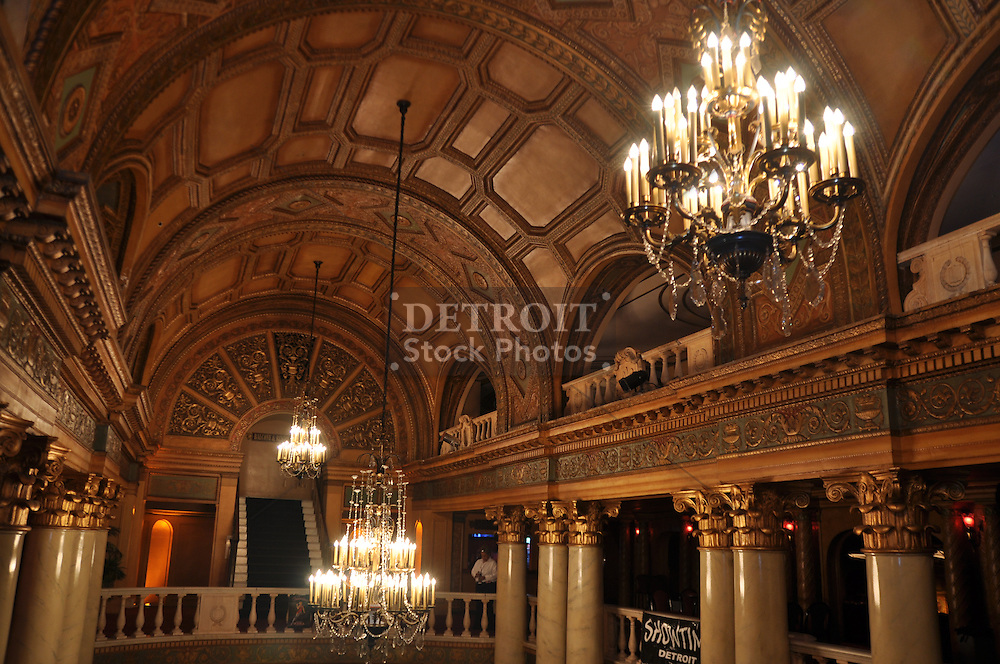 The Fillmore Detroit is a mixed-use entertainment venue operated by Live Nation. Built in 1925, the Fillmore Detroit was known for most of its history as the State Theatre, and prior to that as the Palms Theatre. It is located beside the larger Fox Theatre in the Detroit Theatre District along Woodward Avenue across from Comerica Park and Grand Circus Park. It contains a theatre with a Grand Lobby and two levels of seating, as well as the State Bar &amp; Grill which has a separate entrance and is open when the theatre is not hosting events. During many concerts the lower seating is removed for dancing.<br /> <br /> The theater was designed as a movie house in the Renaissance Revival style of architecture. C. Howard Crane was the original architect, and the building is still called the Francis Palms Building. An earlier theatre called the Central that changed its name to the Grand Circus Theatre (1913-1924) once stood at 2115 Woodward Avenue and had been demolished. Then, what is now the The Fillmore Detroit (1925) arose on the 2115 Woodward site. The present Detroit Opera House (1922), originally known as the Capital at 1526 Broadway Street, had also used the name Grand Circus Theatre.