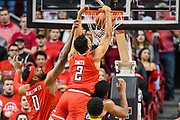LUBBOCK, TX - JANUARY 13: Zhaire Smith #2 of the Texas Tech Red Raiders dunks the basketball during the game against the West Virginia Mountaineers on January 13, 2018 at United Supermarket Arena in Lubbock, Texas. Texas Tech defeated West Virginia 72-71. (Photo by John Weast/Getty Images) *** Local Caption *** Zhaire Smith