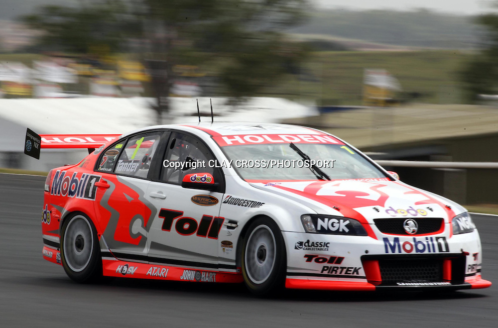 Garth Tander driving the Holden Racing Team Holden during the V8 Supercar race at Eastern Creek Raceway, Western Sydney on Saturday 8th March 2008. Photo: Clay Cross/PHOTOSPORT